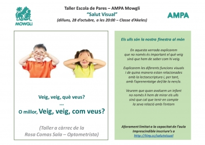 "Taller Escola de Pares - ""Salut Visual"""